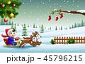 クリスマス 少年 わんこのイラスト 45796215