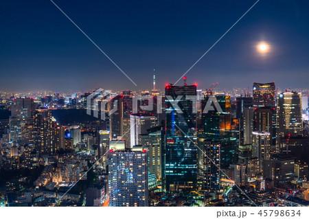 《東京都》月明かりの東京夜景 45798634