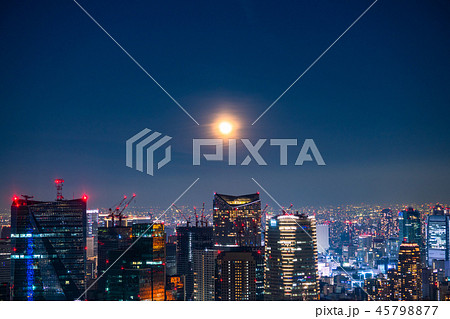 《東京都》月明かりの東京夜景 45798877