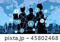 ネットワーク 通信 シルエットの写真 45802468