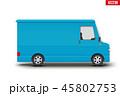 レトロ 貨車 ミニバスのイラスト 45802753