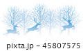 森 林 トナカイのイラスト 45807575