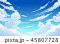 空 くも 雲のイラスト 45807728