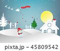 クリスマス サンタクロース ベクトルのイラスト 45809542