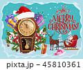 クリスマス サンタ サンタクロースのイラスト 45810361