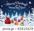クリスマス プレゼント 贈り物のイラスト 45810429