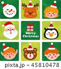 クリスマス サンタクロース アイコンのイラスト 45810478