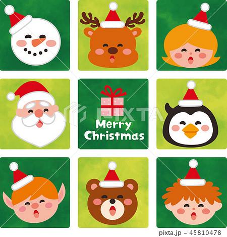 サンタクロースの帽子をかぶったかわいいクリスマスの