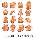ジンジャーブレッド クッキー クリスマスのイラスト 45810513