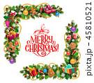 クリスマス フレーム 額縁のイラスト 45810521
