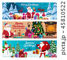 Winter Holidays, Christmas and New Year greeting 45810522
