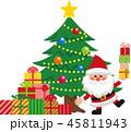 クリスマス クリスマスツリー サンタクロースのイラスト 45811943