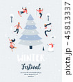 冬 お祭り フェスティバルのイラスト 45813337
