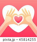 バレンタイン 愛 LOVEのイラスト 45814255