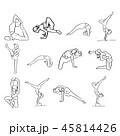 エクササイズ 運動 フィットネスのイラスト 45814426