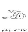 痛める 選手 男性のイラスト 45814840