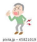 腰痛 ぎっくり腰 椎間板ヘルニアのイラスト 45821019