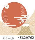 抽象的 花 ふじのイラスト 45829762