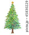 クリスマスツリー クリスマス 飾りのイラスト 45830229