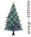 クリスマスツリー クリスマス 飾りのイラスト 45830304