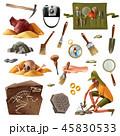考古学 要素 元素のイラスト 45830533