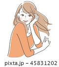 微笑む女性 45831202