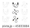 USB ケーブル 綱のイラスト 45833884
