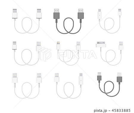 Vector Collection of Cables 45833885