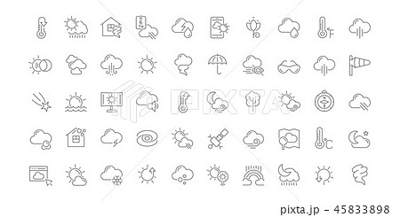Set Vector Line Icons of Weather. 45833898