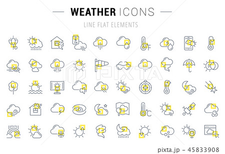Set Vector Line Icons of Weather. 45833908