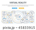 Linear Banner of the Virtual Reality. 45833915