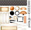 年賀状素材 フレーム セットのイラスト 45833980