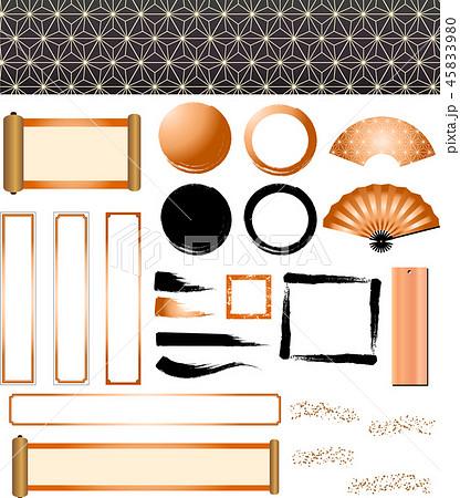 年賀状素材 和風素材 イラスト セット 45833980