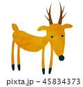 動物 哺乳類 鹿のイラスト 45834373