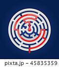 迷路 円 丸のイラスト 45835359