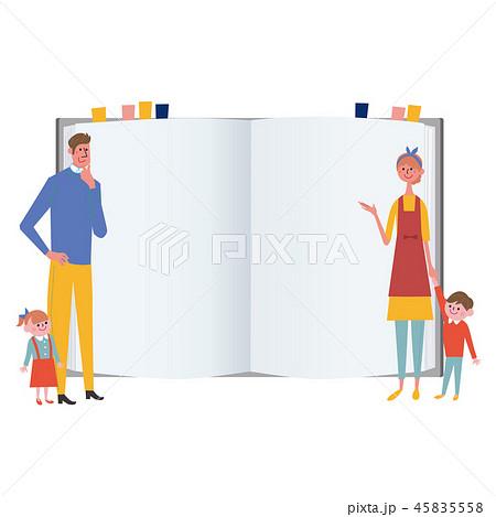 家族 本 ノート イラスト 45835558