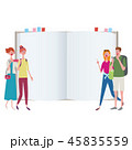 インバウンド 外国人旅行者 ガイド 本 ノート イラスト 45835559