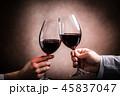 赤ワインで乾杯 45837047