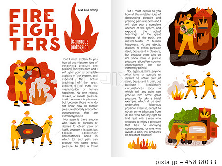 Fire Fighting Flat Infographics 45838033