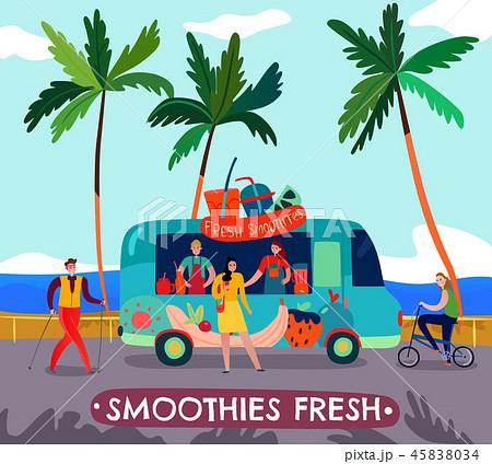 Food Trucks Illustration 45838034