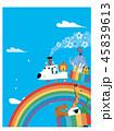 虹のレールとアニマル列車 45839613