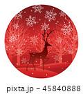 森 トナカイ 動物のイラスト 45840888