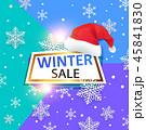 クリスマス スノーフレーク 帽子のイラスト 45841830