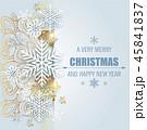 クリスマス スノーフレーク グリーティングのイラスト 45841837