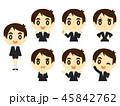 小学生 子供 表情のイラスト 45842762