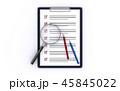 クリップボード 虫眼鏡 調査のイラスト 45845022