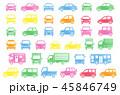 車 シンプル 正面のイラスト 45846749