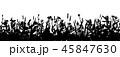 草 黒色 黒のイラスト 45847630