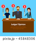 Cartoon Judges Jury Characters Card Poster. Vector 45848306