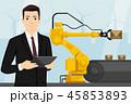 コンベア 工場 製造所のイラスト 45853893